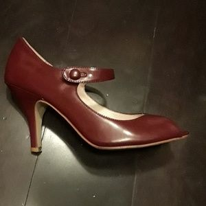 Steve Madden burgundy Mary Jane high heels. Used